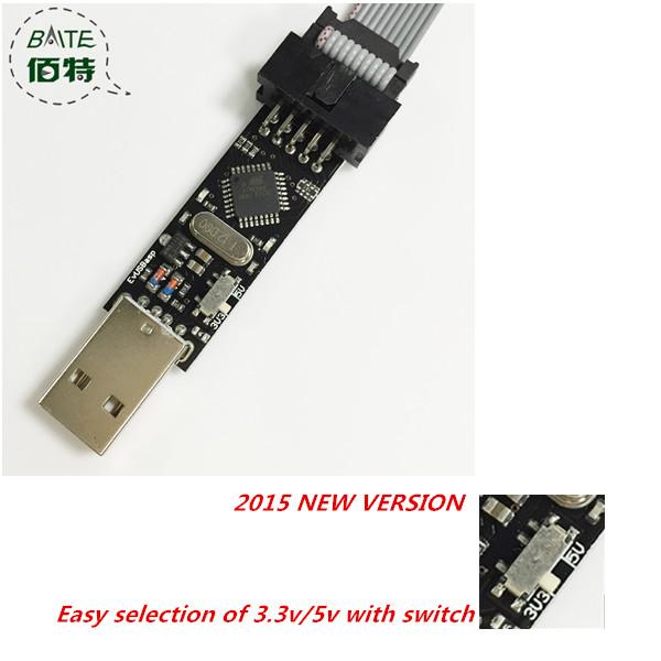USBasp USB ISP 3.3V / 5V AVR Programmer USB ATMEGA8 ATMEGA128 New +10PIN Wire Support Win7 64Bit(China (Mainland))