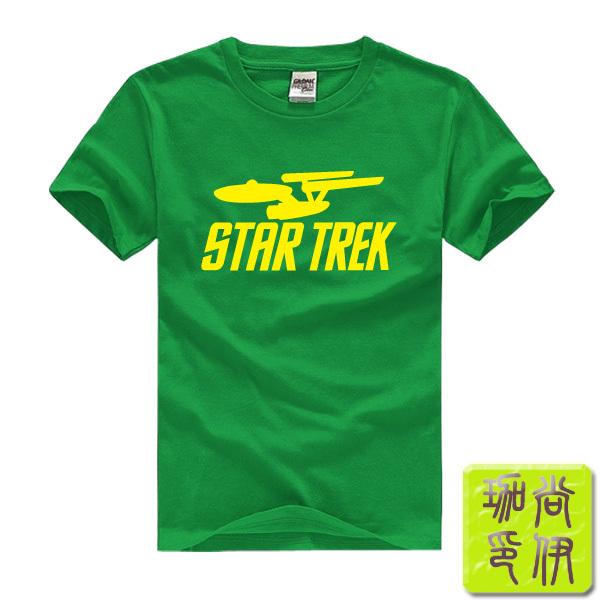 Star Wars Star trek Printed Mens Men T Shirt Tshirt Fashion 2015 New Short Sleeve O Neck Cotton T-shirt Tee(China (Mainland))