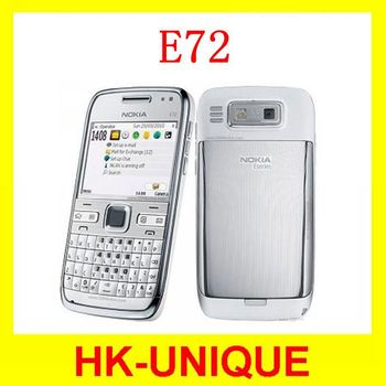 Original Unlocked Nokia E72 3G network WIFI GPS Russian keyboard language cell phones free shipping