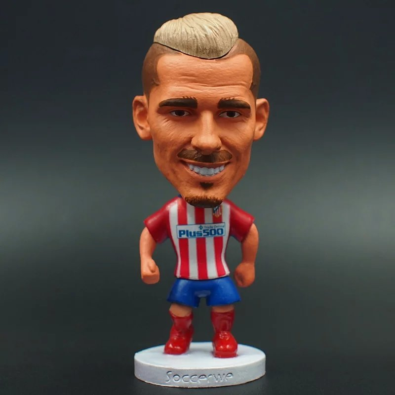 Soccerwe 6.5*3.5 cm Star Doll MA 7 Griezmann Mini Resin Figure Office Doll Funny in home Kit(China (Mainland))