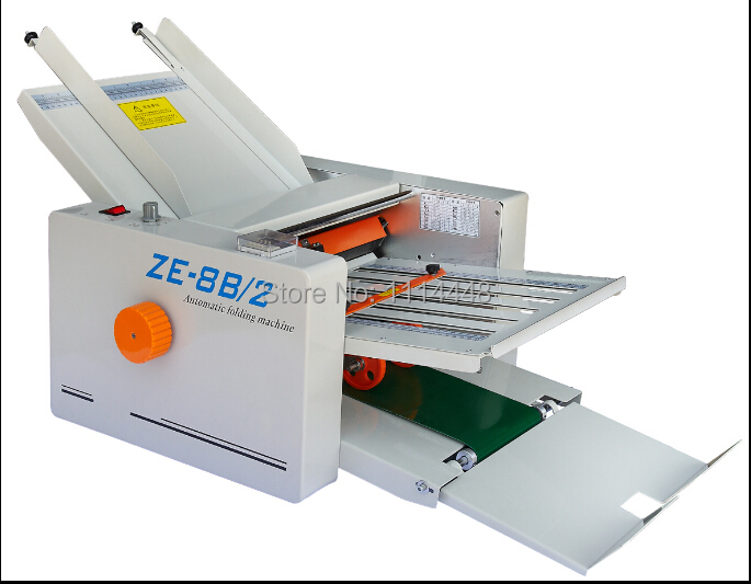 brand new automatic paper folding machine paper folder machine ze 8b2 2 fold plate