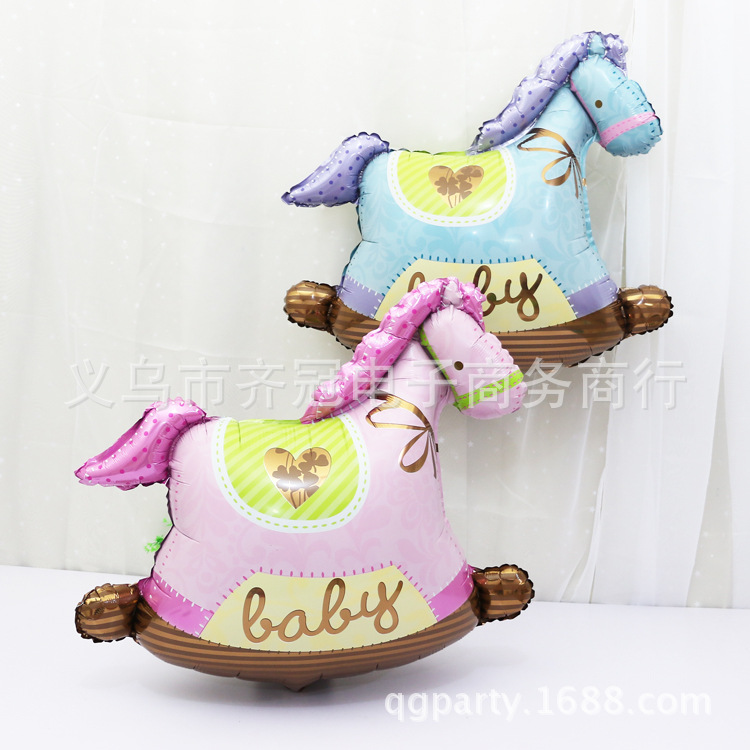95*92cm Big Size Wooden Horse Cockhorse Hobbyhorse inflatable air Balloons kids Toys children gifts Birthday Wedding Decoration(China (Mainland))