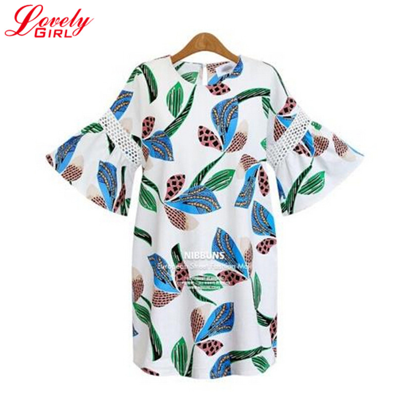 Large Size 5XL Women Casual Dress With Short Sleeve 2016 Summer Dresses Hollow Out Plus Size Ladies Clothing Floral Dress Sale(China (Mainland))