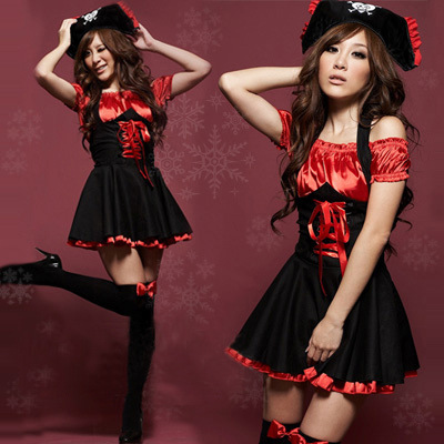 Sexy Pirates Cosplay Dress Jazz Dance Clothes Uniform Temptation Halloween Costumes For Women H9(China (Mainland))