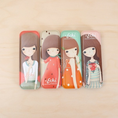 Echi pencil case illustrator iron pencil case 4