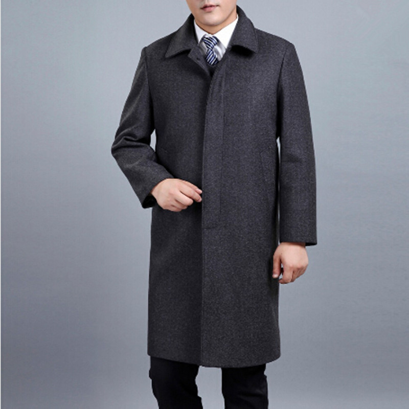 British Style Fashion Men Longer Section Wool Coats Winter Men Woolen Outerwear Outdoor Warm Single Breasted Jackets And CoatsОдежда и ак�е��уары<br><br><br>Aliexpress