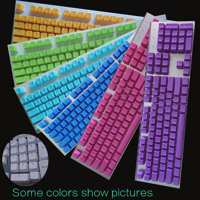 104Key PBT/ABS Big Enter keycap keyboarded For magic duck cherry multicolor Mechanical Keyboard(China (Mainland))