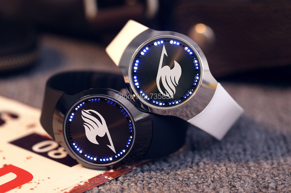 Wholesale 100pcs/lot Led Cartoon Star Watch Fashion Sports Blue Light Led Touch Screen Leather Band Watches LT008(China (Mainland))