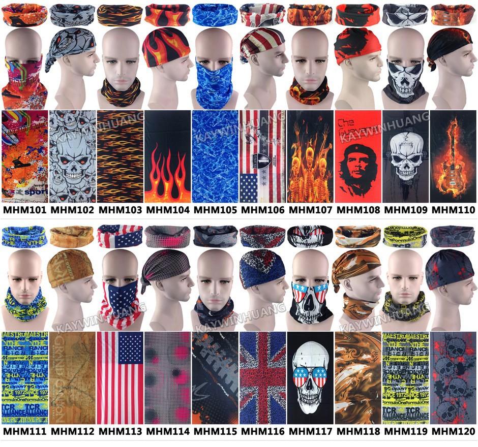 Бесплатная доставка 1 шт./лот мода велоспорт спортивный череп пламя многоцелевой трубчатые бандана многофункциональный повязки бесшовные одежда