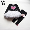 2 7T Girls Clothing Set 2 Pieces Set Girl Clothes Set Heart Pattern Ball Gown T