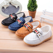 2016 children's Girls and boys baby age1-3 leather Doug Dichotomanthes  toddler Flat bottomed fashion Casual shoes ZGHB891