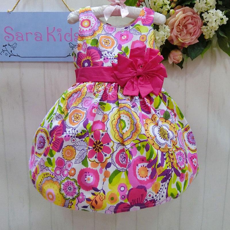 Wholesale more flower for  Kid girls Party Dresses baby girls dress  girls temperament dress 20150623