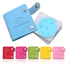 Newest 24 Slots Leather Nail Art Stamping Plate Case/Bag/Folder Nail Stamp Template Holder Album Storage For Dia 5.6cm Stencil(China (Mainland))
