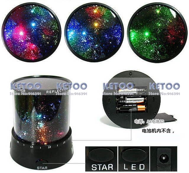 Good Gift Night light Lovely Sky Starry Star Projector Lighting Star Master Led Christmas Decoration(China (Mainland))