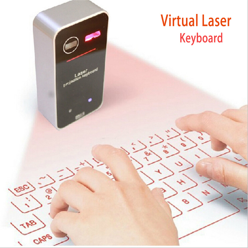 Ultra-Portable Virtual Projection Laser Keyboard Wireless Bluetooth 2.0 USB for HID Super Full Key for XP/vista/7/ 8/IOS/Iphone(China (Mainland))