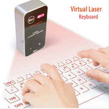 Ultra Portable Virtual de proyección Laser Keyboard Wireless Bluetooth 2.0 USB for HID Super llave completa para XP / vista / 7 / 8 / IOS / Iphone(China (Mainland))