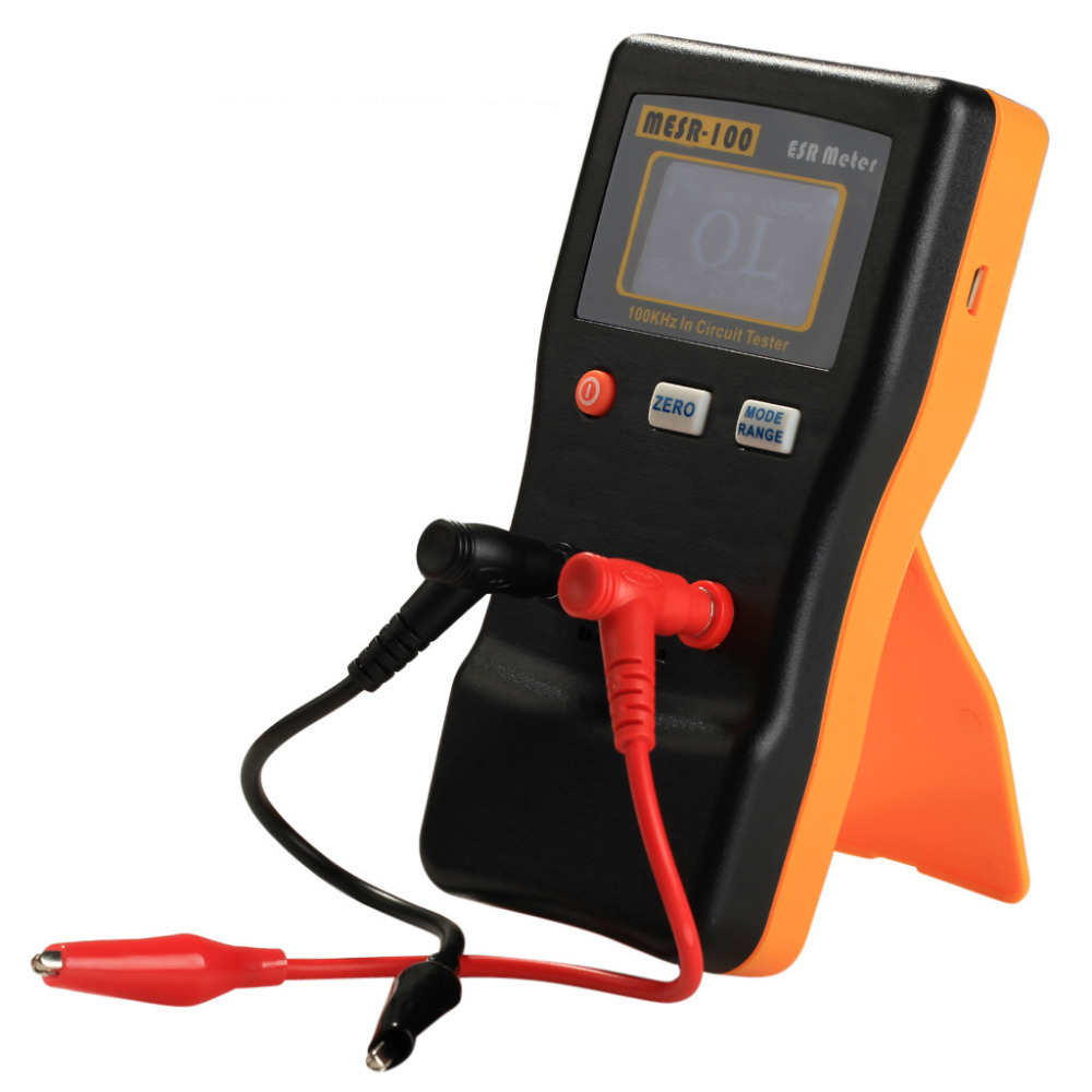 Upgrade MESR-100 AutoRanging In Circuit ESR Meter Capacitor /Low Ohm Meter Tester Up to 0.01 to 100R(China (Mainland))
