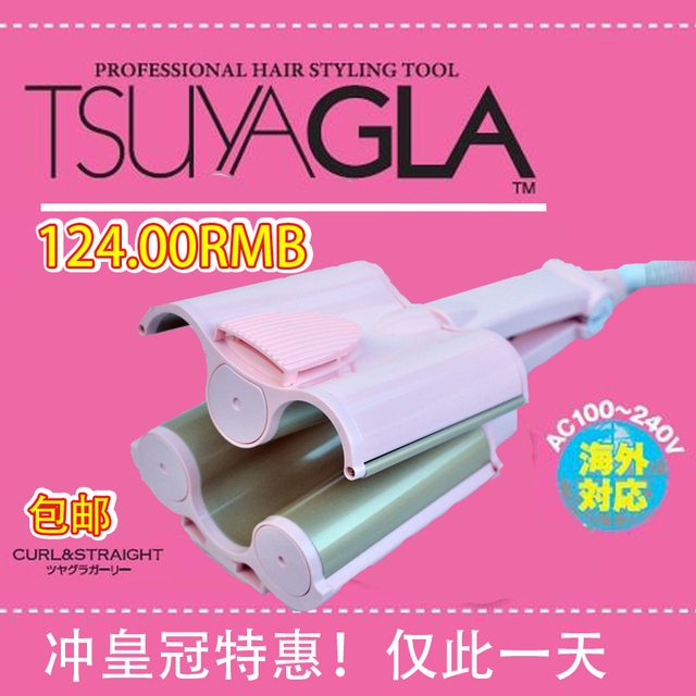 Free shipping Tsuyagla rolls stick hair sticks ceramic Large tube electric hair sticks