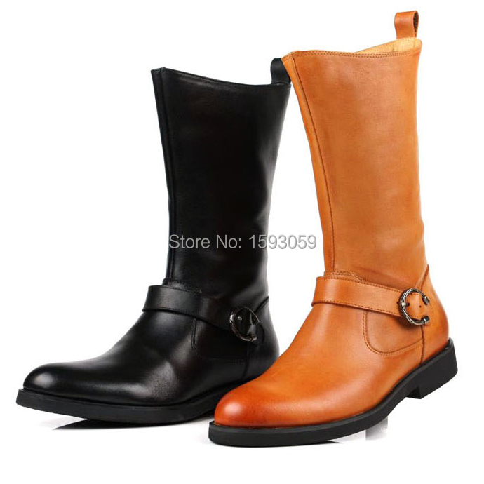 Brand genuine leather men boots cowhide man Spring mens formal work shoe businessman shoes male fashion flats zipper 758<br><br>Aliexpress