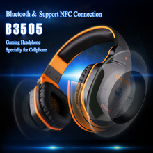 EACH B3505 Wireless V4.1 Bluetooth Game Headphone Deep Bass Stereo Sound Gaming Headset With Micr Support NFC For Mobile Phones