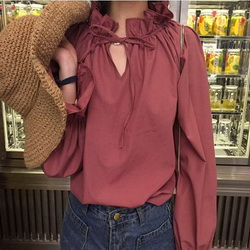 Ladies Casual Shirt Women's Spring Red White Striped 3/4 sleeve T shirt Tops For Woman Crew Neck Bottoming Tee Shirt