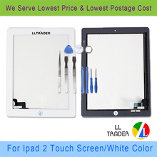 White Replacement+Professional Repair Kit Touch Screen Digitizer front glass For Apple Ipad 2 Universal(China (Mainland))
