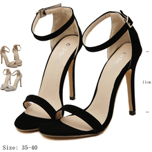 Summer Stiletto Women sandals high heel Shoes 2016 Open Toe high heels fashion Women shoes Size 35-40