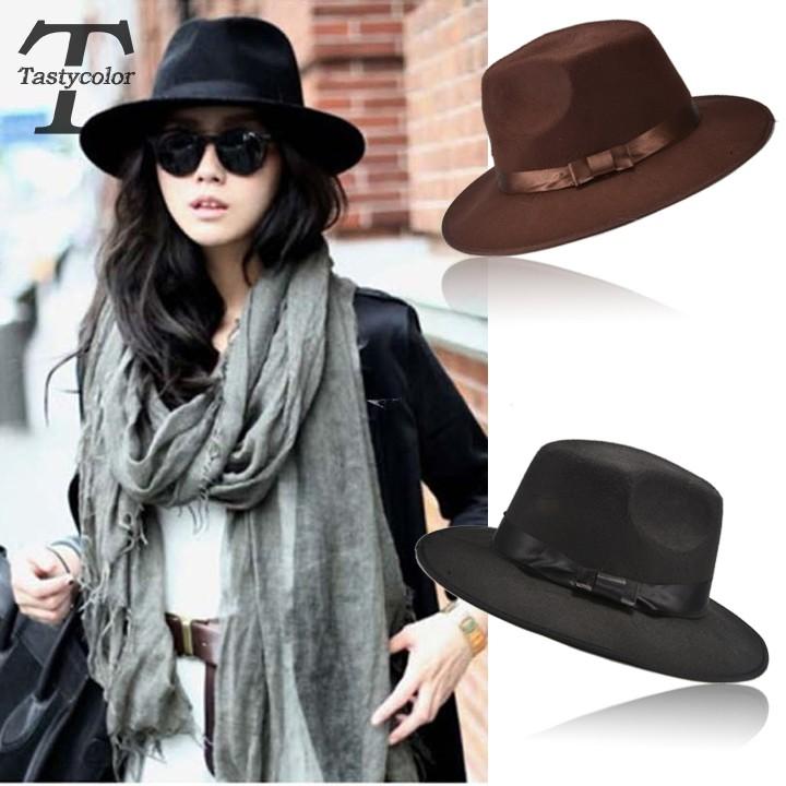 Hot Sale Fashion Popular Unisex Men Women Vintage Style Blower Jazz Round Dome Top Hat Trilby Cap Fedora Decor Summer Hat(China (Mainland))