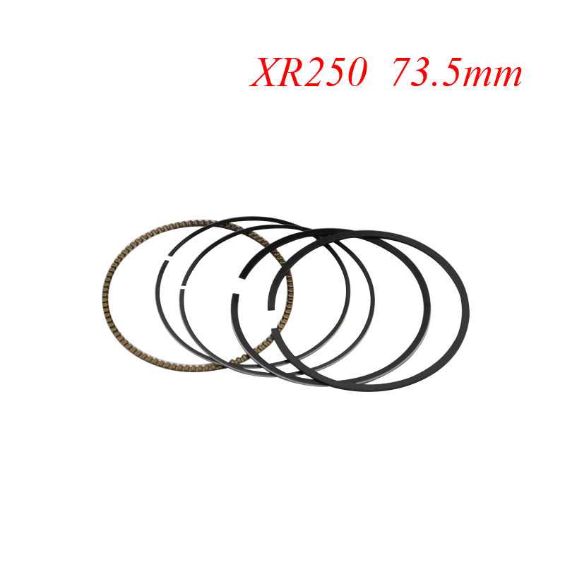 Motorcycle Piston Rings Set For Honda XR250 XR 250 BAJA250 (+50) 0.5mm Oversize Bore Size 73.5mm NEW(China (Mainland))