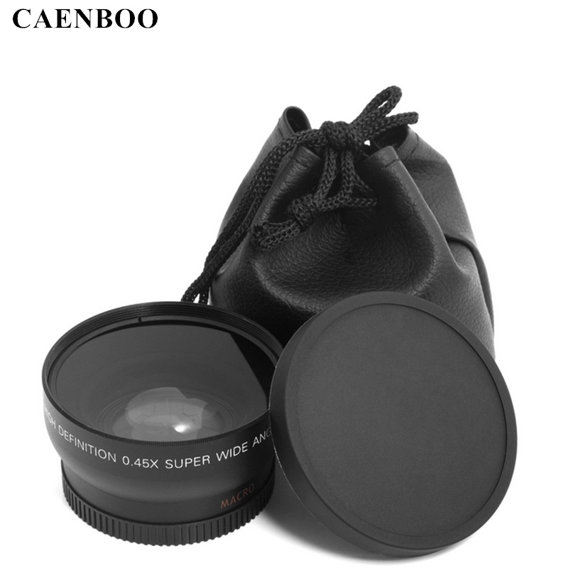 CAENBOO 0.45x37mm 43mm 46mm 49mm 52mm Wide Angle Macro Lens Wide-Angle Camera Lens Canon EOS Nikon Sony Lens Accessories