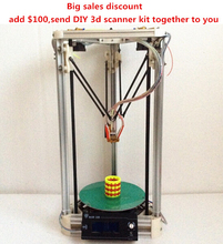 HE3D Delta Dual-Extruder 3d printer-2GB SD For free
