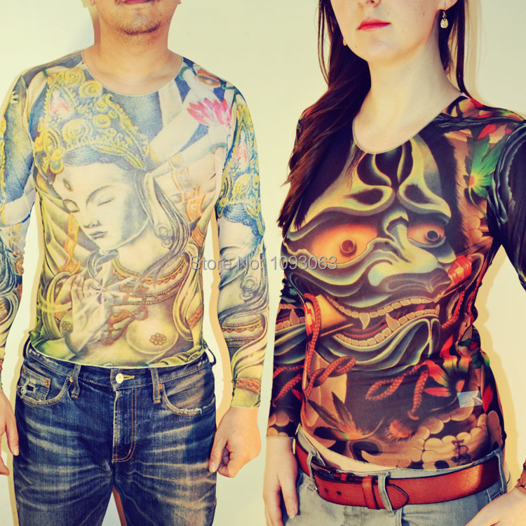 Demon you promotion shop for promotional demon you on for Tattoo sleeve shirts for women