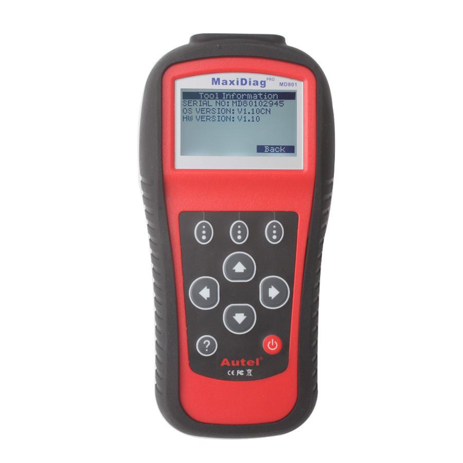 Maxidiag Autel MD801 pro maxidiag 4 in 1 MD 801 (JP701 + EU702 + US703 + FR704) OBD2 Scan Tool MD801 Diagnostic Tool(China (Mainland))