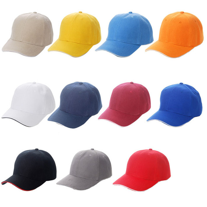 Durable 2015 Hot!!! Summer Style Unisex Plain Sport Blank Curved Solid Color Velcro Adjustable Baseball Caps Fast Shipping(China (Mainland))