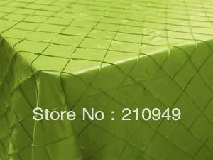 "Free Shipping 20pcs 90""x156"" thanksgiving tablecloths green table clothes pintuck table cloth(China (Mainland))"