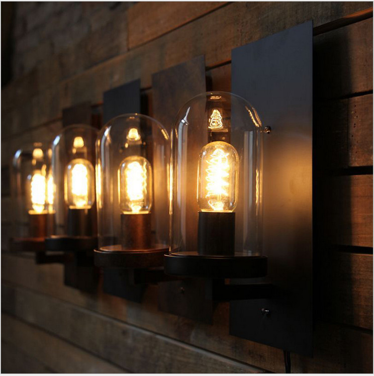 Vintage Industrial Style Wall Lights : Retro Loft Style Industrial Edison Vintage Wall Light Lamp Antique Iron, Edison Wall Sconce ...