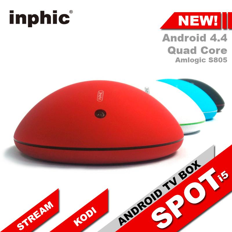 Inphic Spot i5 Android TV Box 4.4 Quad Core Amlogic S805 1G/8G Smart TV Box Media Player KODI XBMC WiFi Set-Top Box OTT(China (Mainland))
