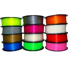 High Quality 15 Colours 3D Printer Filaments plastic Rubber Consumables Material, ROHS certified ,1.75/3mm ABS / PLA Optional