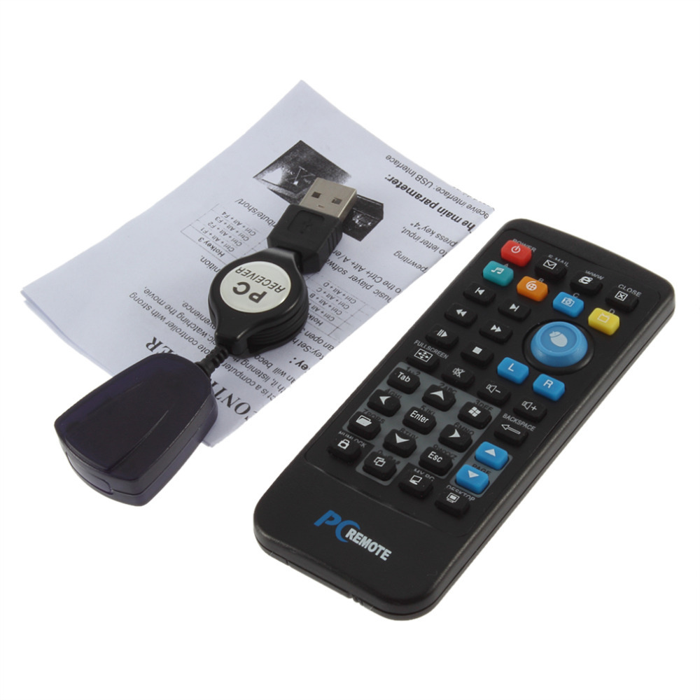 IR Wireless Controller PC Computer Remote Control USB Media Center fly Mouse & USB Receiver For Windows 7 XP VISTA Hot(China (Mainland))