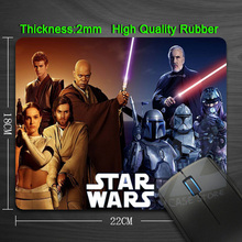 Free Shipping Popular Movies Star Wars Silicon Anti-slip Mouse Mats for PC Computer Laptop Notbook Gaming Mouse mat