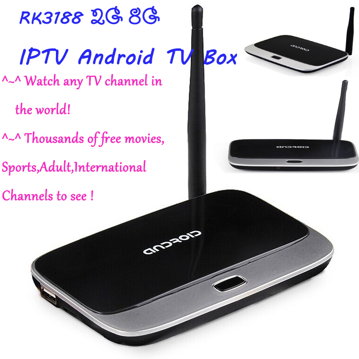IPTV Android TV Box RK3188 2GB/8GB Quad Core Mini PC FULL HD 1080P Media Player with Remote Controller.2015 newest!(China (Mainland))