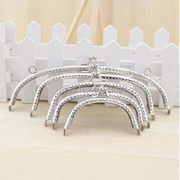 HY03 Free shipping new 5PCS Silver arc-Shaped Purse Frame Metal DIY Coin Bag Accessories SET OF 8.5/ 10/ 12/ 15/ 20CM(China (Mainland))