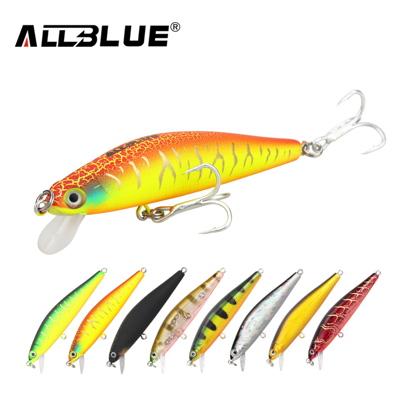 ALLBLUE New Minnow 70mm 6.5g 0.5-1M Dive Artificial Bait Plastic Hard 3D Eyes Fishing Lures Wobbler Fishing Bait Fishing Tackle(China (Mainland))