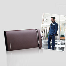 Sanwony New Men Leather Card Cash Receipt Holder Organizer Bifold Wallet Wholesales Hot