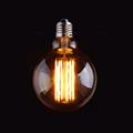 Vintage LED Long Filament Bulb Gold Tint Edison G95 Globe Style 4W 6W 2200K Retro Decorative