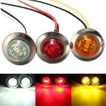 Amber Red White LED Side Marker Lamp Turn Signal Indicator Truck Trailer Light(China (Mainland))