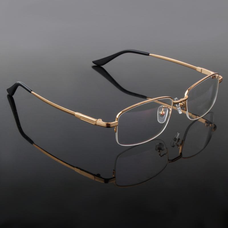 Quality Eyeglasses Male Half Rimmed B Titanium Eyeglasses prescription Frames Men(China (Mainland))