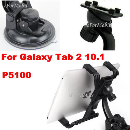 360 Degree Rotating Holder Tablet PC Holder Car Holder Window Suction Holder For Samsung Galaxy Tab 2 10.1 P5100(China (Mainland))