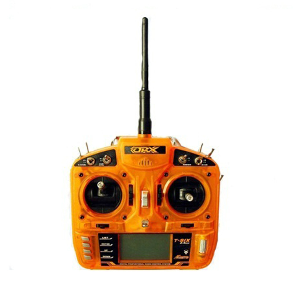 ORX 2.4Ghz 6ch RC transmitter 6-channel Radio remote control dsm2 receiver for DX6i Mode1&Mode2 for RC helicopter free shipping(China (Mainland))