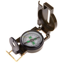 Buy S1#5485 bussola kompas Portable Army Green Folding Lens Compass American Geology Military compass Outdoor Hiking Camping for $1.82 in AliExpress store
